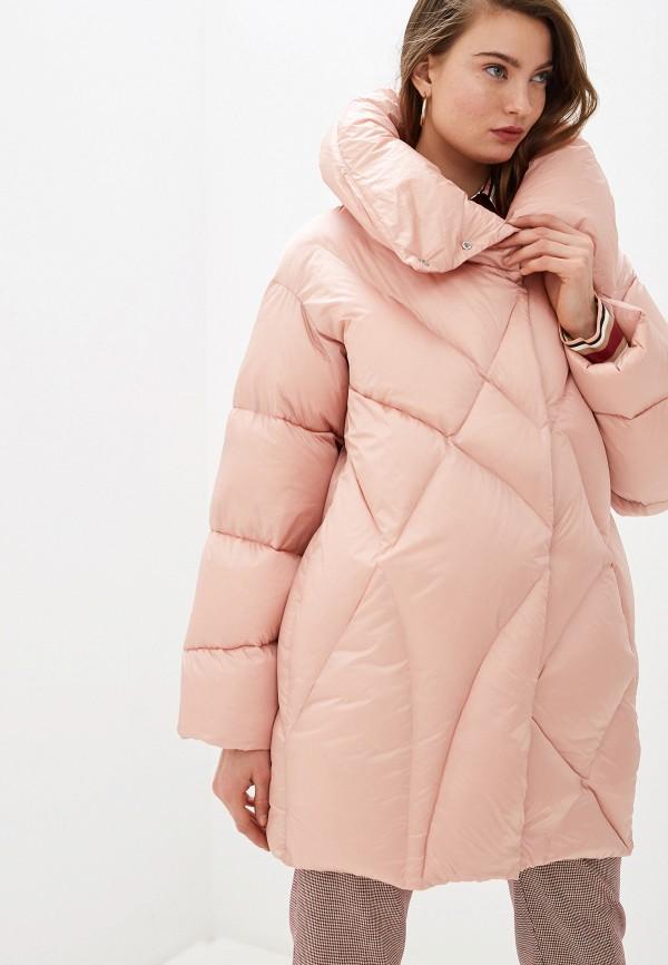 женский пуховик add, розовый