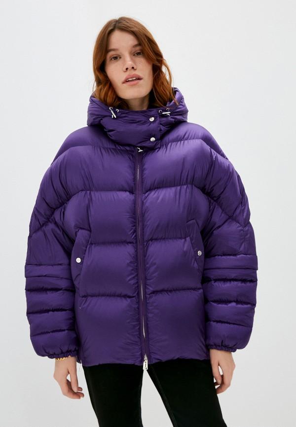 женский пуховик add, фиолетовый