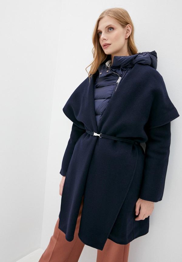 женское пальто add, синее
