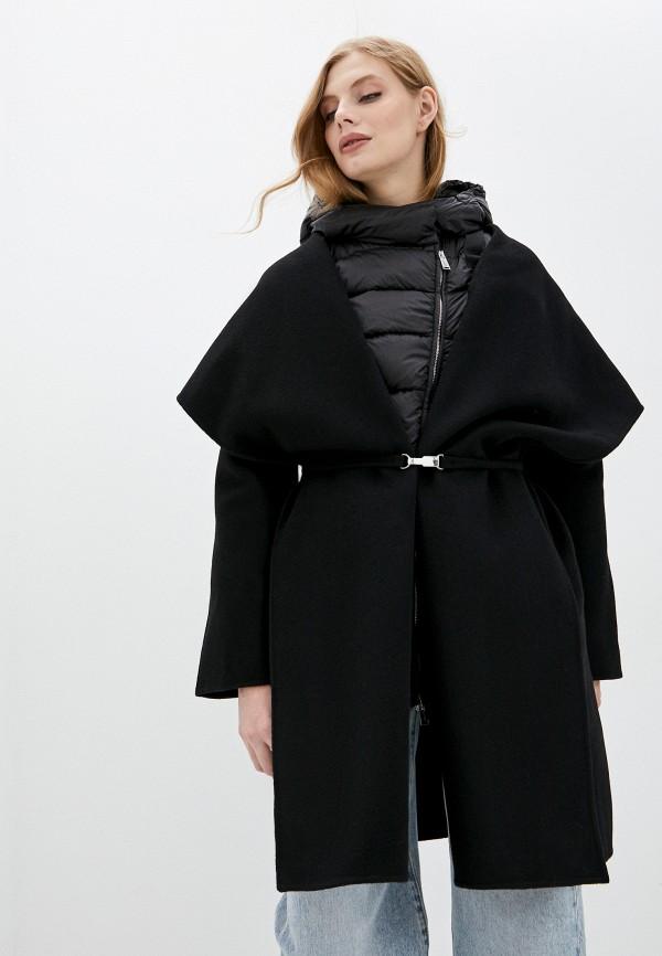 женское пальто add, черное
