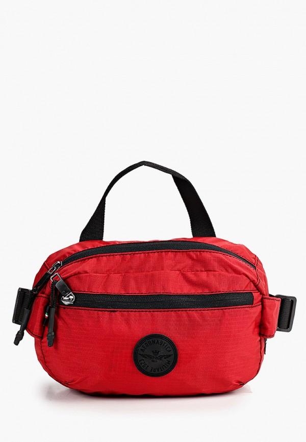 мужская сумка aeronautica militare, красная