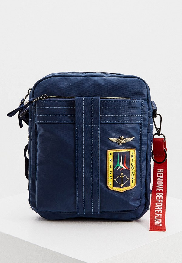 мужская сумка aeronautica militare, синяя