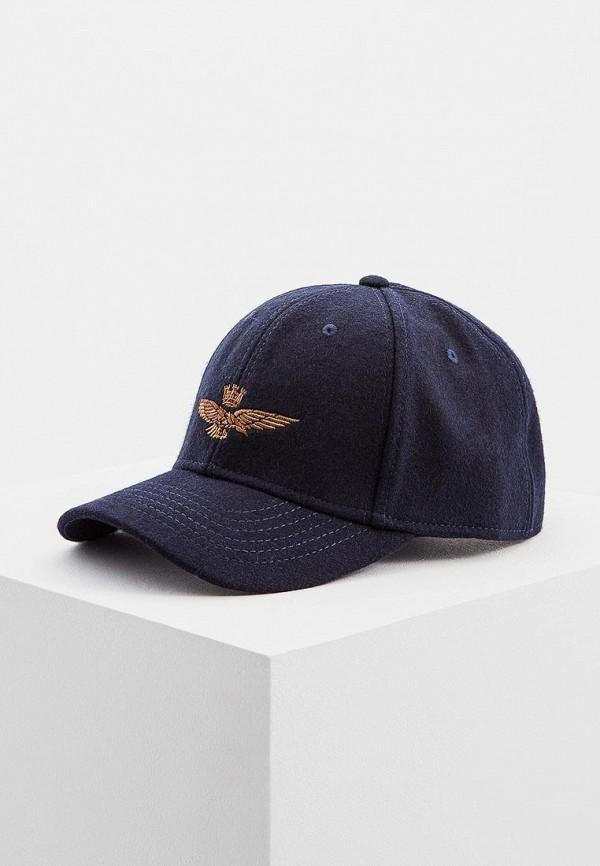 мужская бейсболка aeronautica militare, синяя
