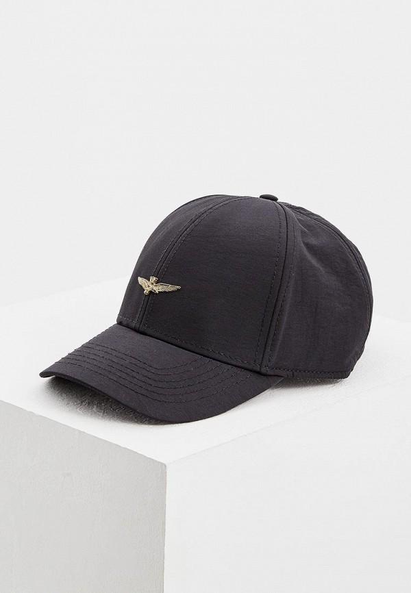мужская бейсболка aeronautica militare, черная