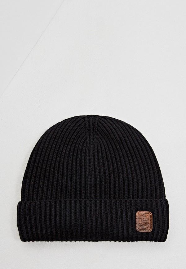 мужская шапка aeronautica militare, черная