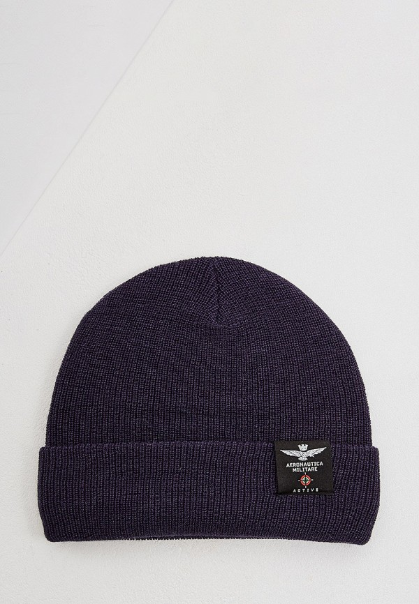 мужская шапка aeronautica militare, синяя