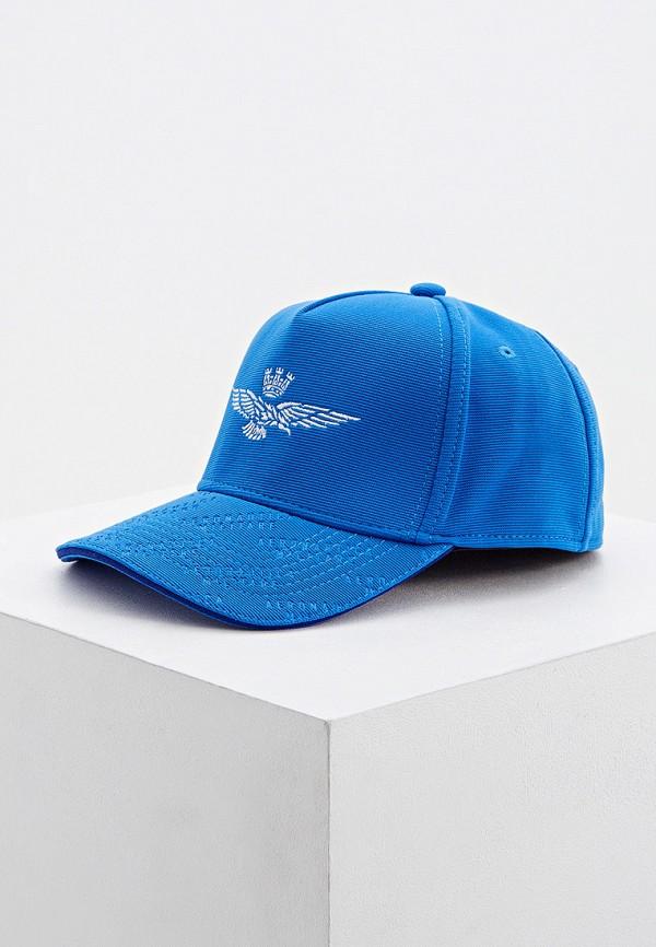 мужская бейсболка aeronautica militare, голубая