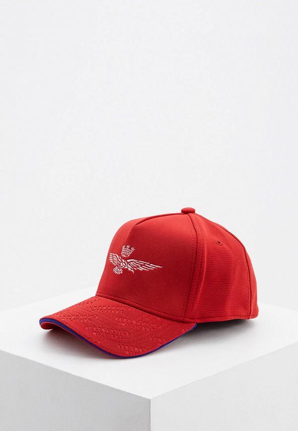 мужская бейсболка aeronautica militare, красная
