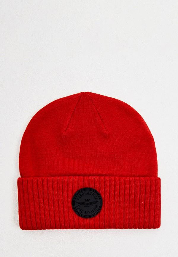 мужская шапка aeronautica militare, красная