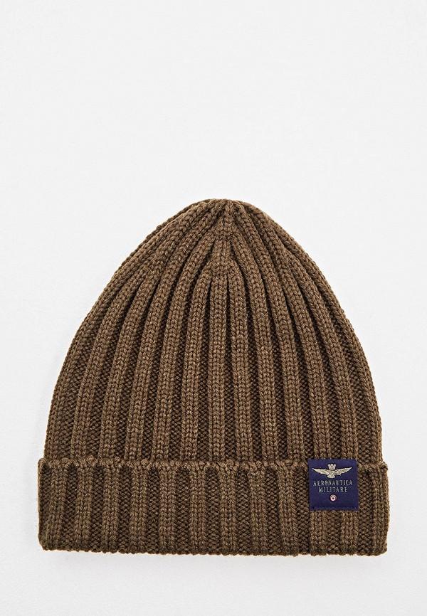 мужская шапка aeronautica militare, хаки
