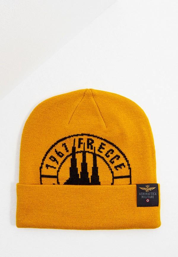 мужская шапка aeronautica militare, желтая