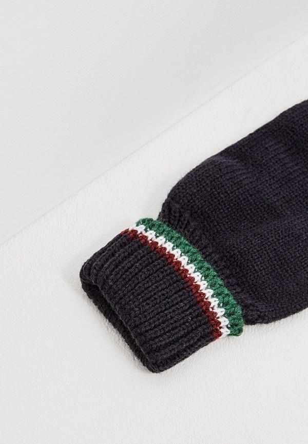 Фото 2 - мужские текстильные перчатки Aeronautica Militare синего цвета
