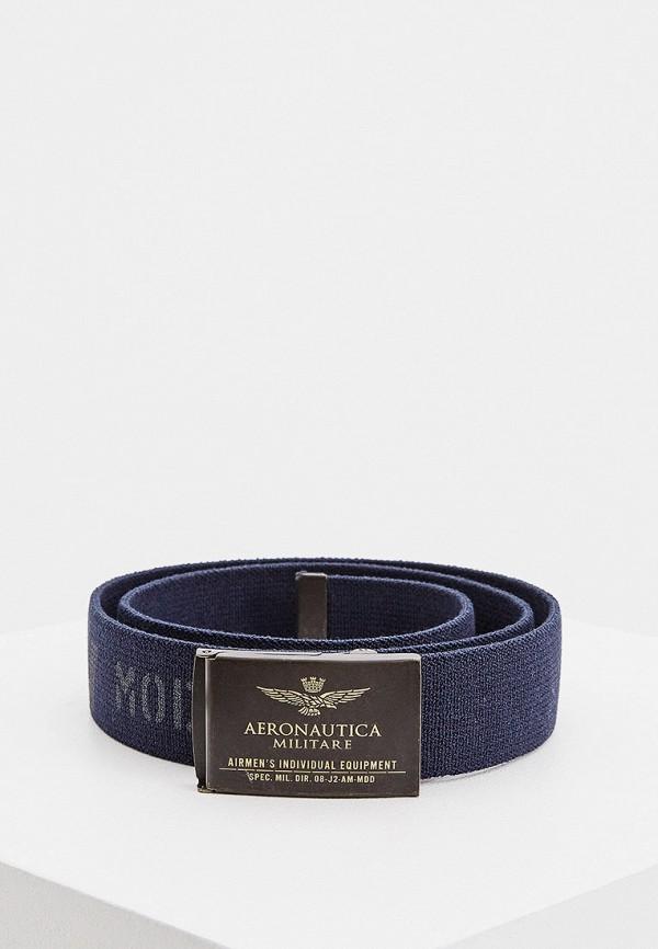 мужской ремень aeronautica militare, синий