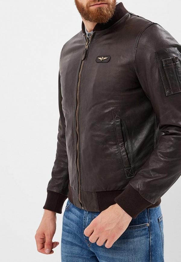 Купить Куртка кожаная Aeronautica Militare, Aeronautica Militare AE003EMCCXL3, коричневый, Осень-зима 2018/2019