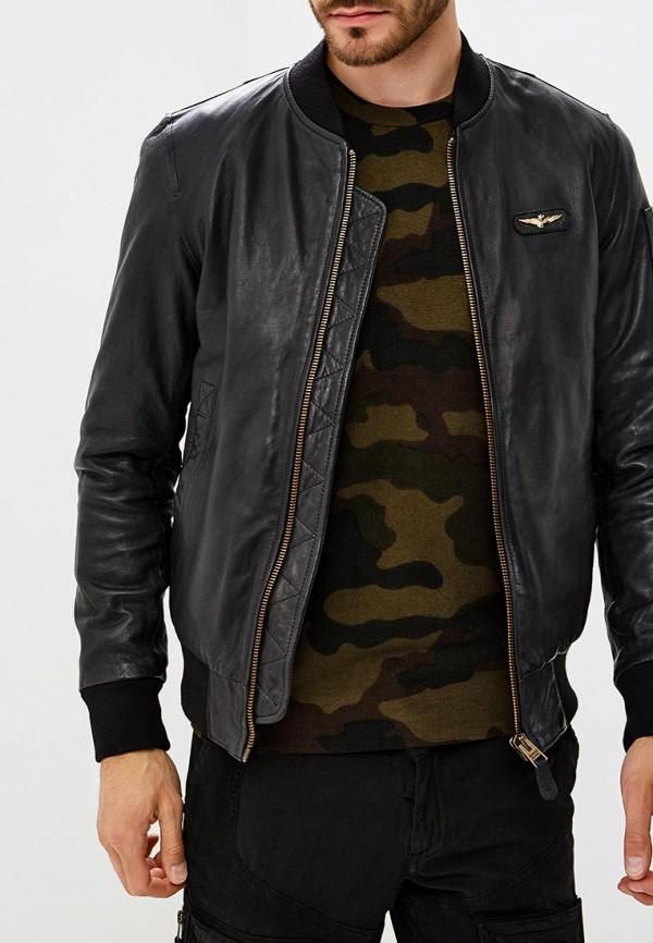 Куртка кожаная Aeronautica Militare