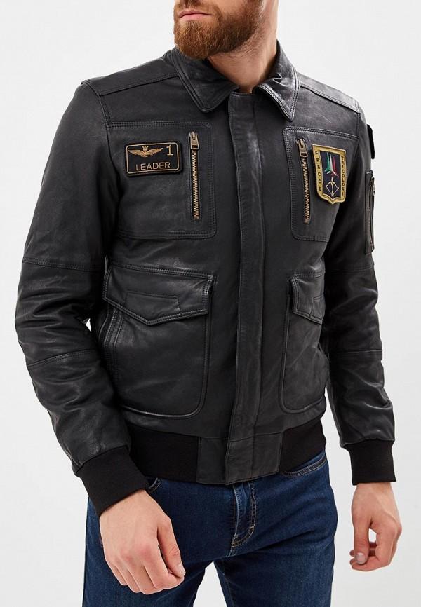 Купить Куртка кожаная Aeronautica Militare, Aeronautica Militare AE003EMCCXL6, черный, Осень-зима 2018/2019