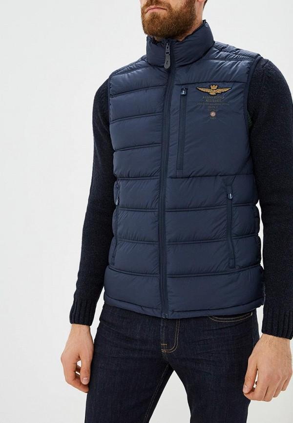 мужской жилет aeronautica militare, синий