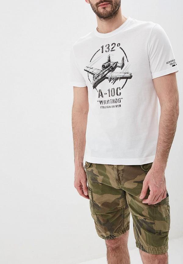 мужская футболка aeronautica militare, белая