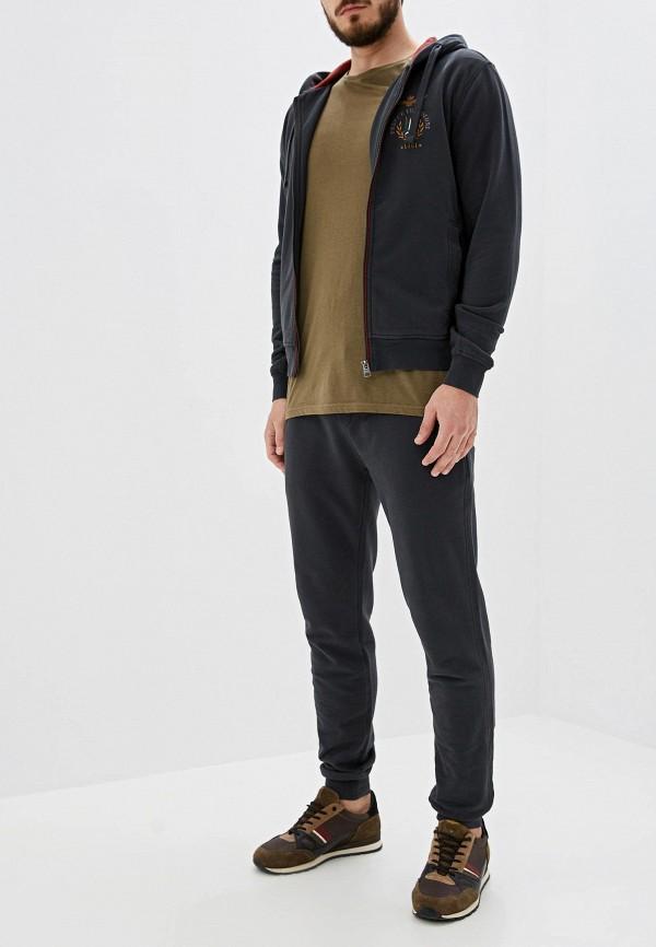 мужской спортивные спортивный костюм aeronautica militare, серый