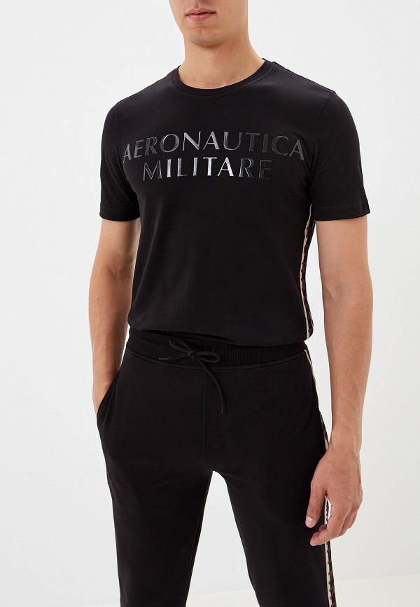 мужская футболка aeronautica militare, черная