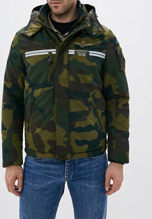 Фото - Куртку утепленная Aeronautica Militare цвета хаки