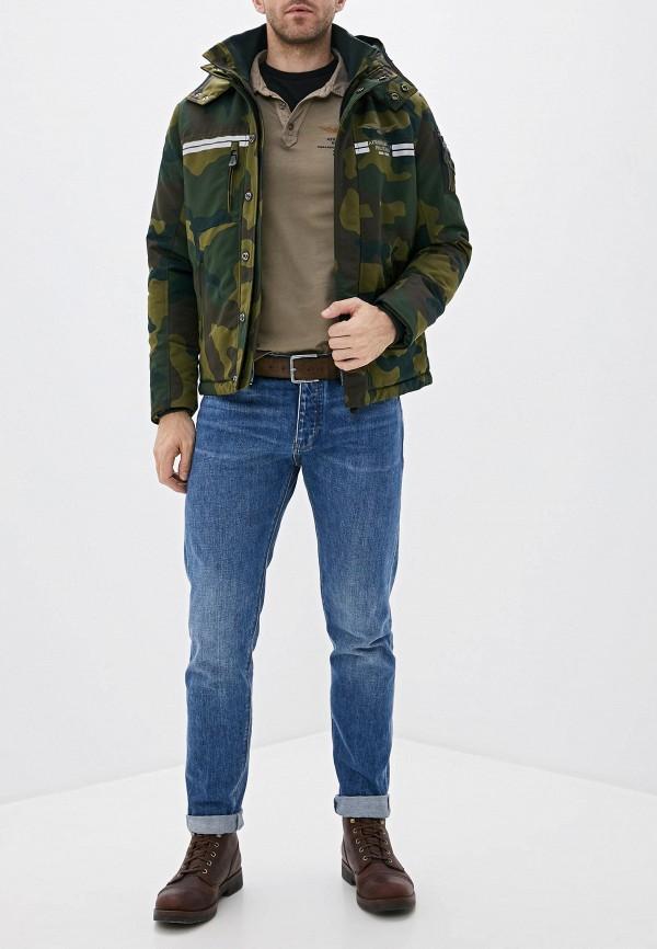 Фото 2 - Куртку утепленная Aeronautica Militare цвета хаки