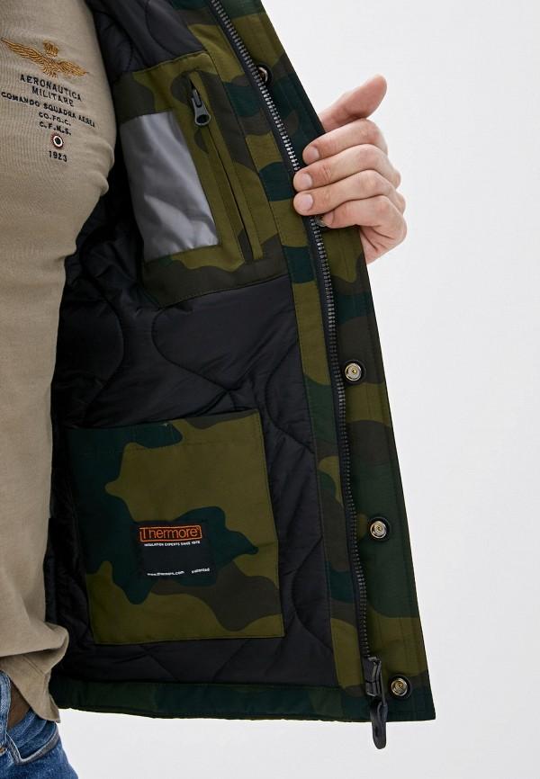 Фото 4 - Куртку утепленная Aeronautica Militare цвета хаки