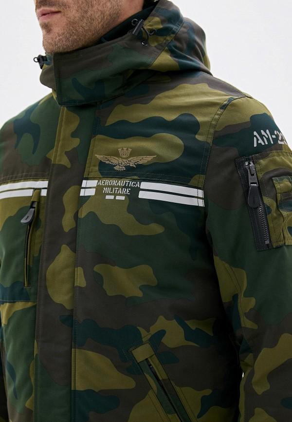 Фото 5 - Куртку утепленная Aeronautica Militare цвета хаки
