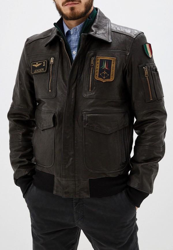 мужская куртка aeronautica militare, черная