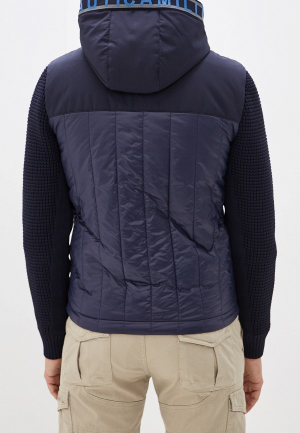 Фото 3 - Куртку утепленная Aeronautica Militare синего цвета