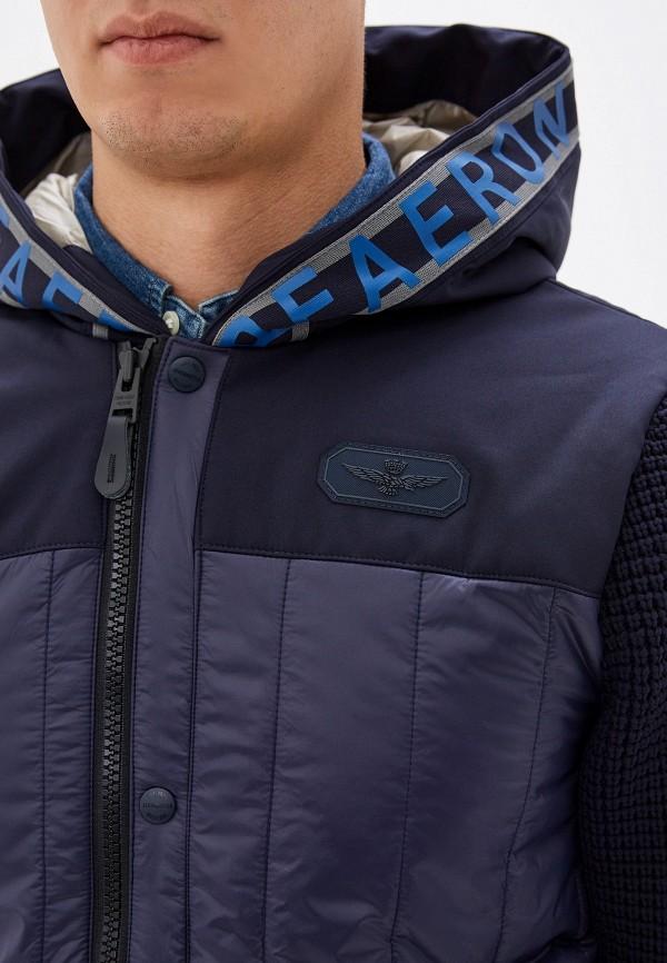 Фото 5 - Куртку утепленная Aeronautica Militare синего цвета