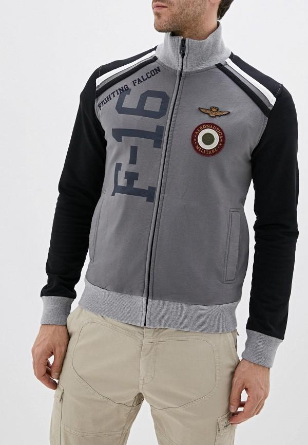 мужская олимпийка aeronautica militare, серая