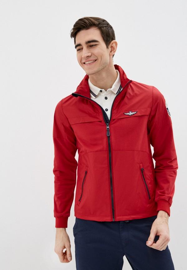 мужская куртка aeronautica militare, красная
