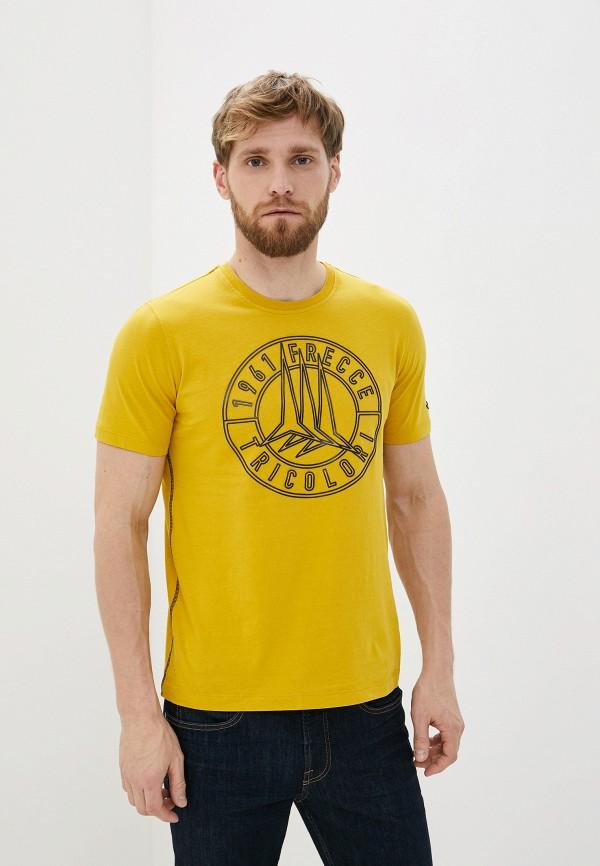 мужская футболка aeronautica militare, желтая