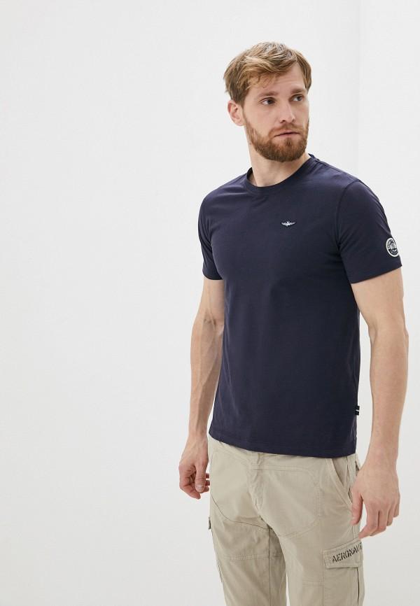 мужская футболка aeronautica militare, синяя