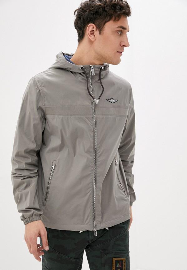 мужская куртка aeronautica militare, серая