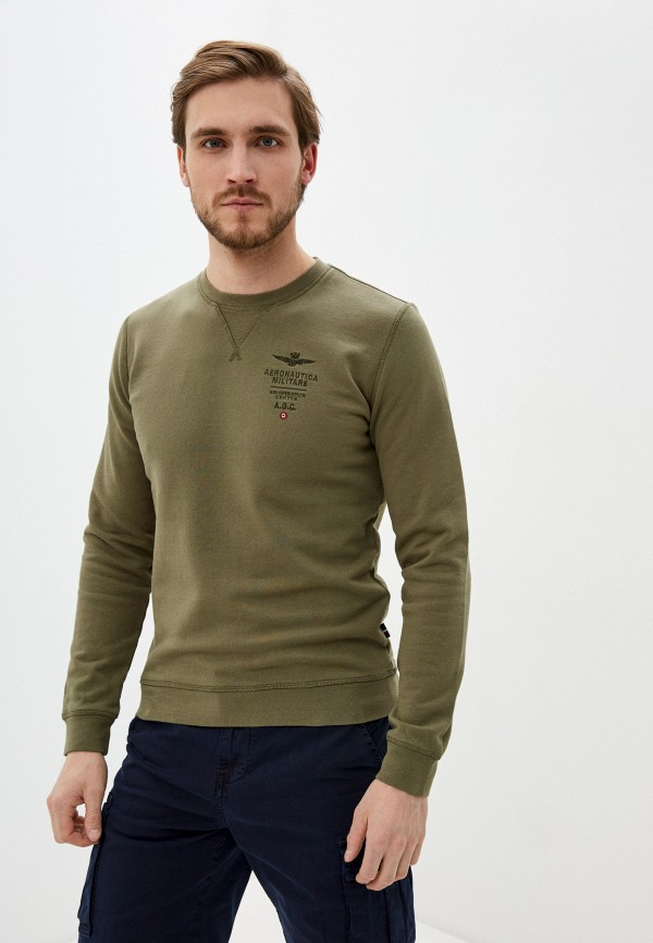мужской свитшот aeronautica militare, хаки