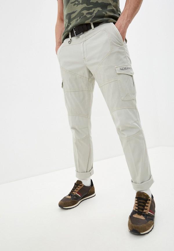 мужские повседневные брюки aeronautica militare, серые