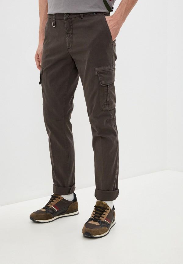 мужские повседневные брюки aeronautica militare, коричневые