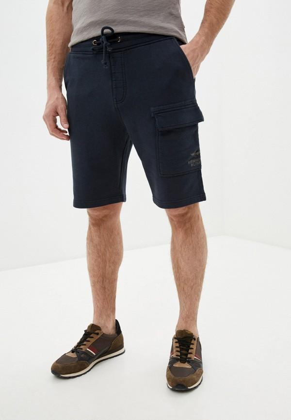 мужские повседневные шорты aeronautica militare, синие