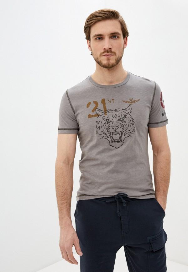 мужская футболка aeronautica militare, серая