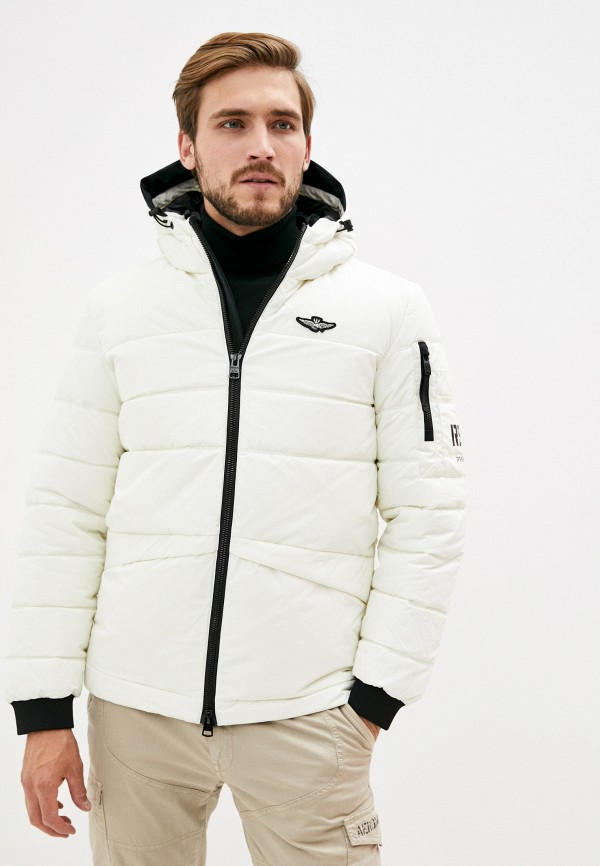 мужская куртка aeronautica militare, белая