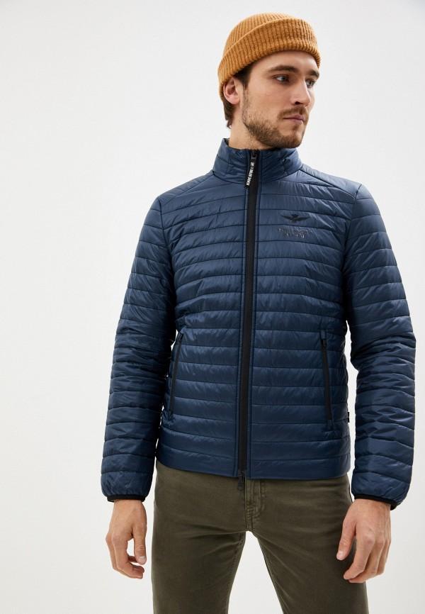 мужская куртка aeronautica militare, синяя