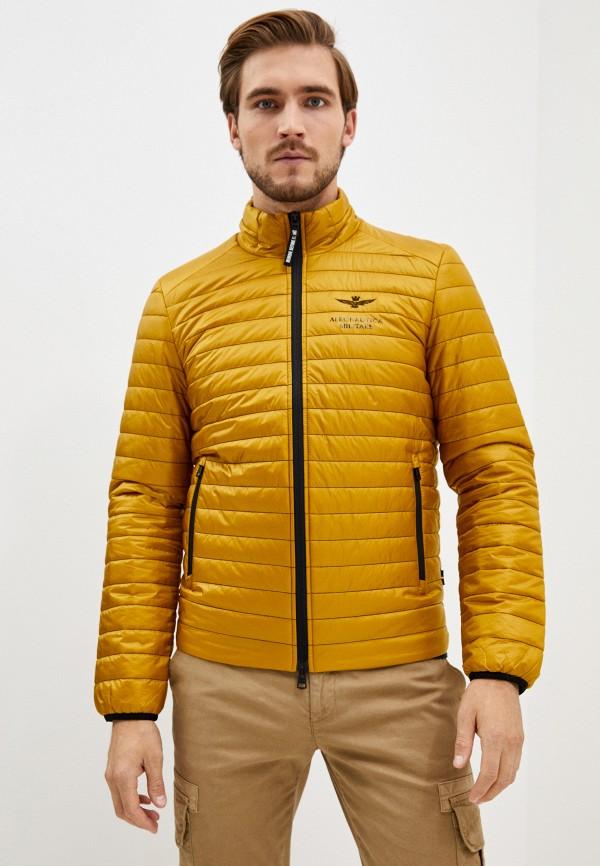 мужская куртка aeronautica militare, желтая