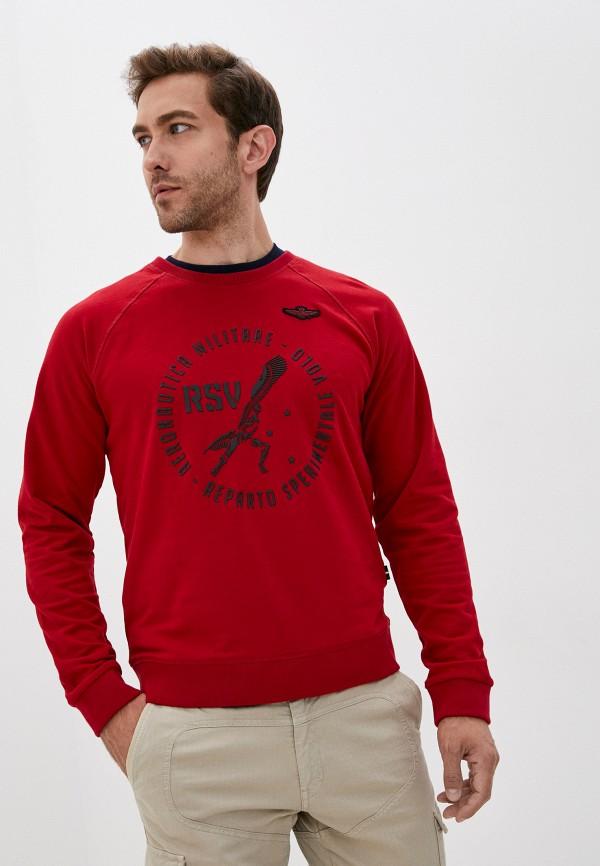 мужской свитшот aeronautica militare, красный