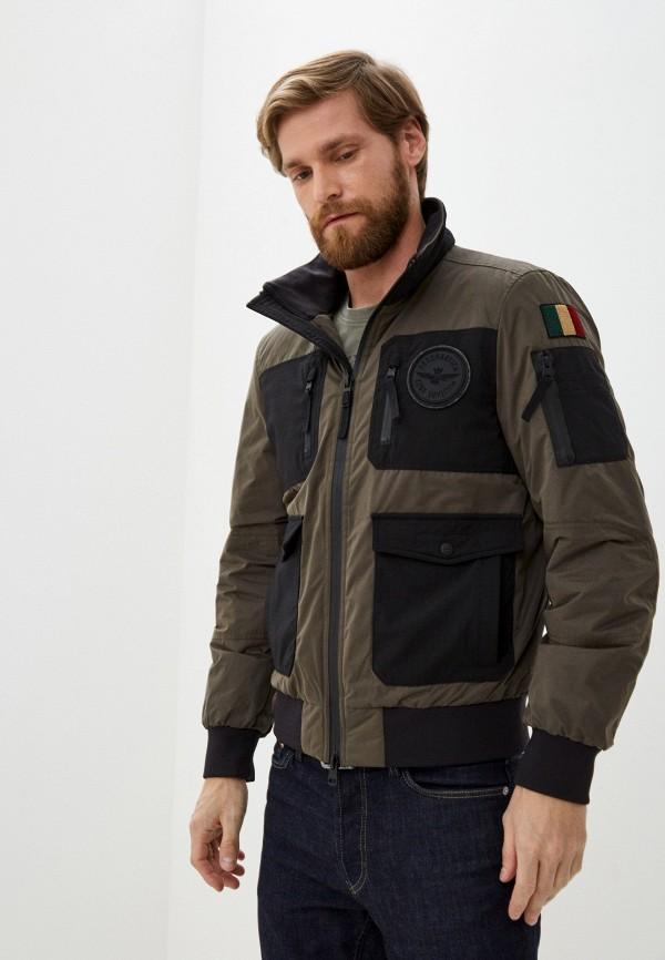 мужская куртка aeronautica militare, хаки