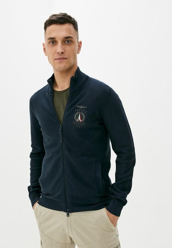 мужской кардиган aeronautica militare, синий