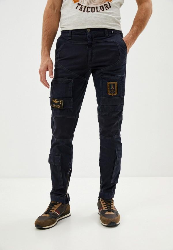 мужские повседневные брюки aeronautica militare, синие
