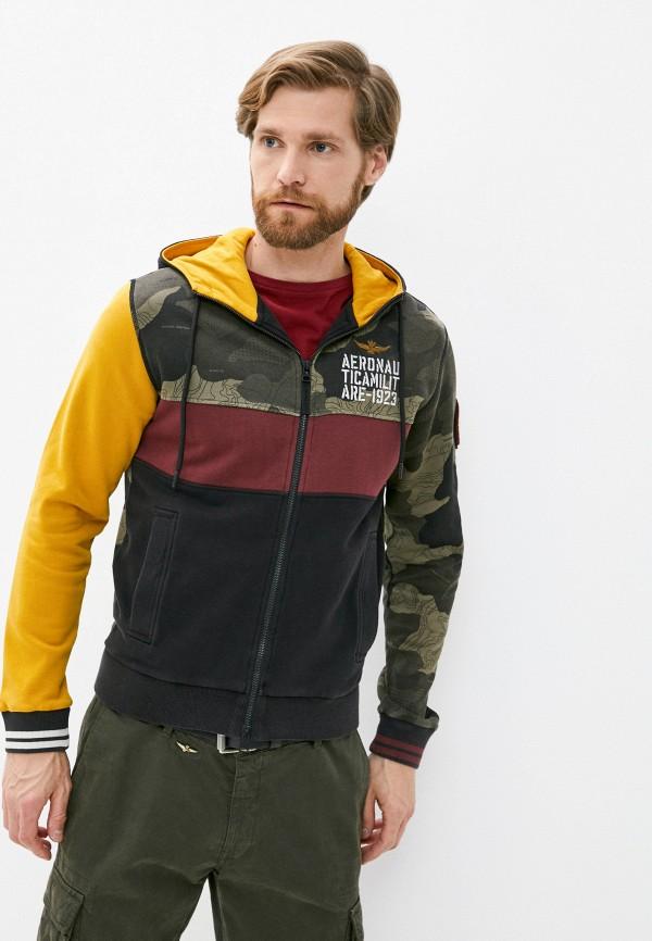мужская толстовка aeronautica militare, разноцветная