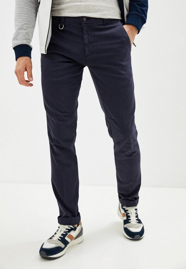 мужские зауженные брюки aeronautica militare, синие